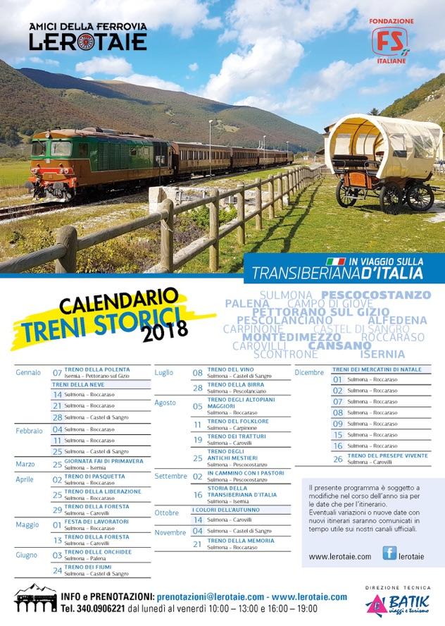 programma 2018 le rotaie transiberiana d'italia in Abruzzo